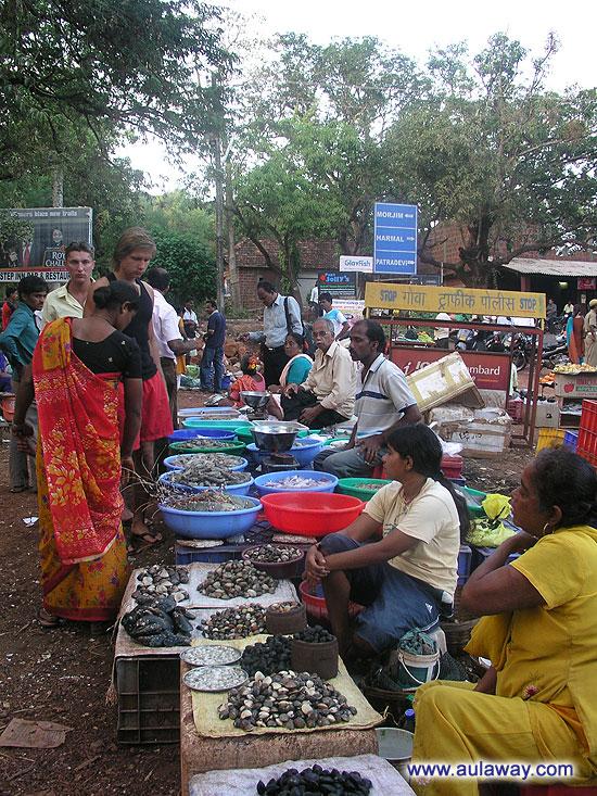 Рыбный рынок. Северный Гоа. Первый взгляд.