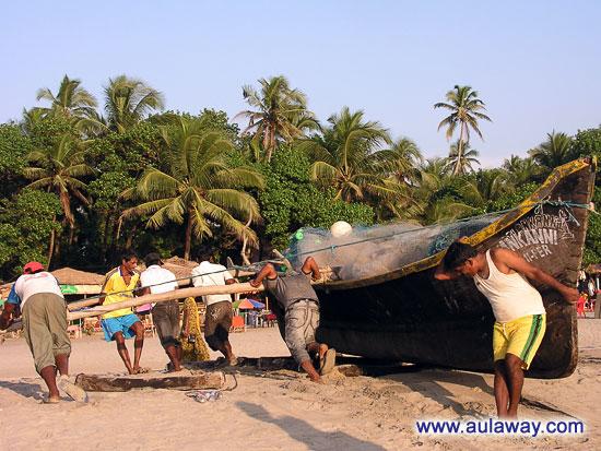 Индусы решили поработать и подготовиться к завтрашней ловле рыбы