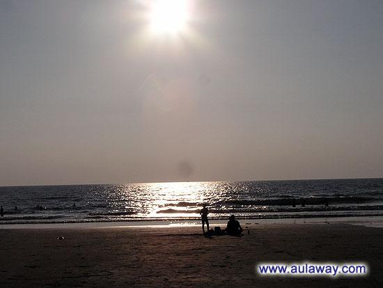 Пляж Арамболь. Закат.