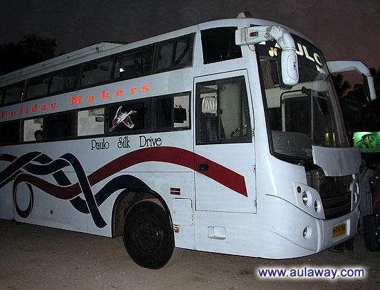 Ночной автобус с Мапсы (Панажди) Гоа в Хампи.