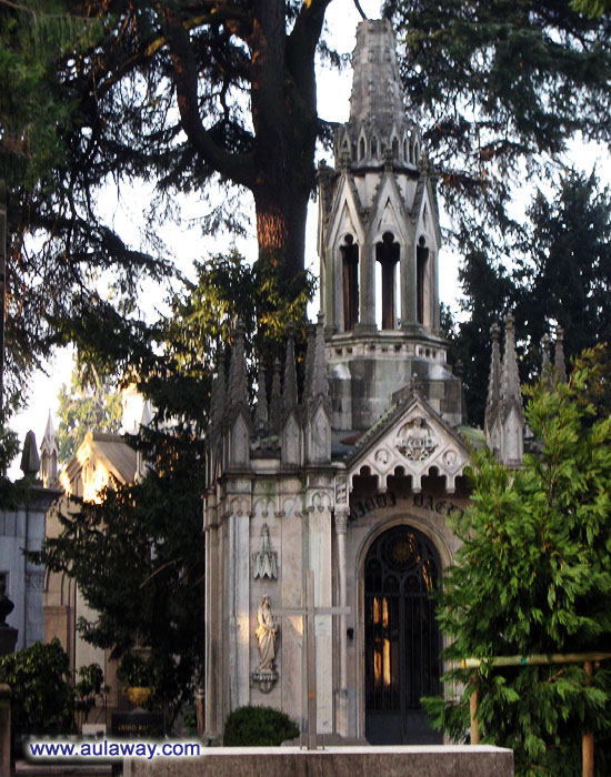 Италия. Милан. Кладбище.