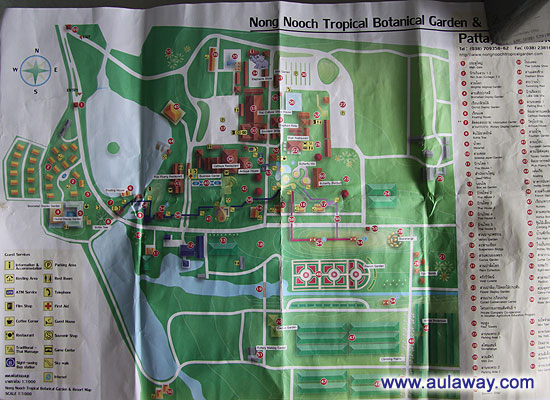 Nong Noch. Нунг Нуч Таиланд - карта парка.