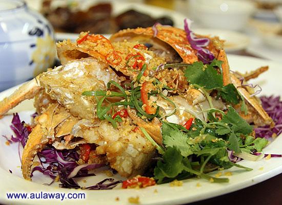 Краб. Китайский краб с чесночком.