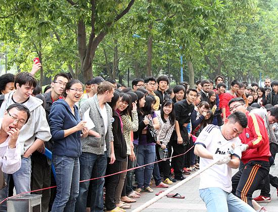 Зимнепраздник в Китайском институте.