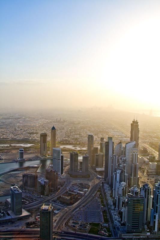 Закат с высоты. Арабские Эмираты.
