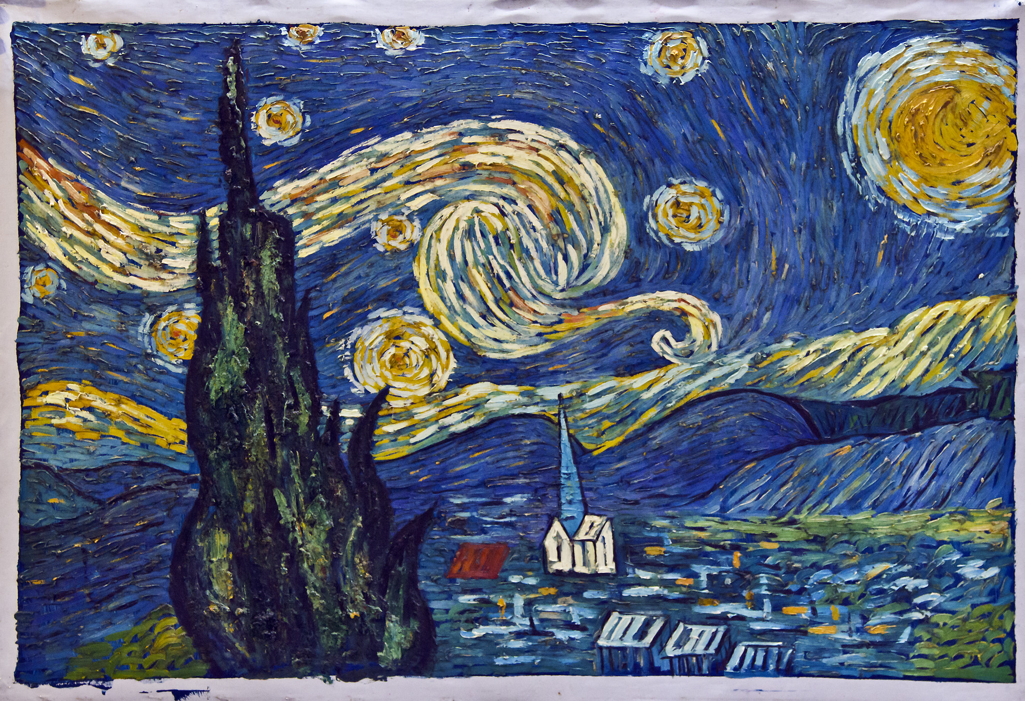 Moma Vincent Van Gogh The Starry Night 1889 - HD2000×1367